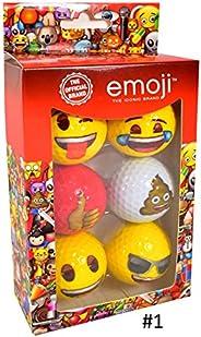 Challenge Golf Emoji Novelty Multi-Colored Golf Balls #1-#4 6-Ball Pack