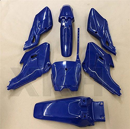 XKH Group 7 PCs Blue Plastic Fairing Body Cover Kits For Baja Dirt Runner  125