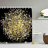 Best Creative Bath Shower Caddies - Gold Explosion Shower Curtain, Creative Mildew Resistant Waterproof Review