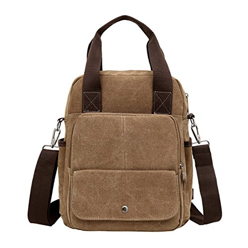 Business Men's Messenger Travel Leisure Laidaye Brown Shoulder purpose Multi Backpack Bag IFwCxpxdq
