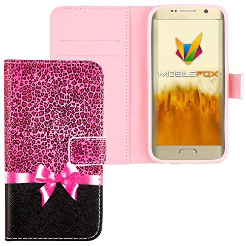 Mobilefox Schleife Flip Case Handytasche Samsung Galaxy S6 Edge