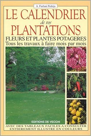 Calendrier Plantations.Amazon Fr Le Calendrier De Vos Plantations Fleurs Et