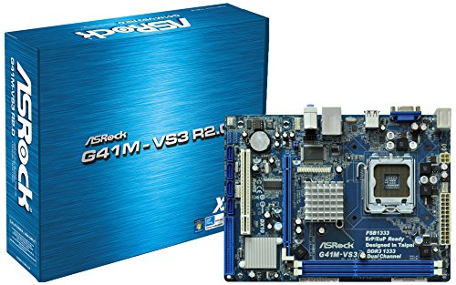 ASRock G41M-VS3 R2.0 Core 2 Quad/ Intel G41/ DDR3/ A&V&L/ Micro ATX LGA 755 Motherboard