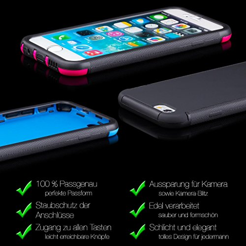 iCues AB15 360 Degree Display Touch Case für Apple iPhone 6 weiß