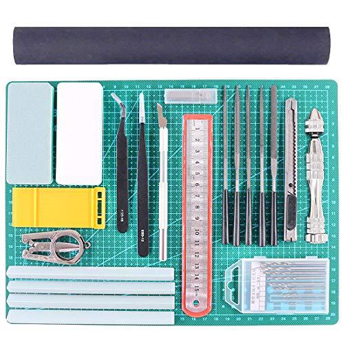 Rustark 27Pcs Gundam Modeler Basic Tools Craft Set Hobby Building Tools Kit for Professional Model Assemble Building - Model Kit Plastic Tools