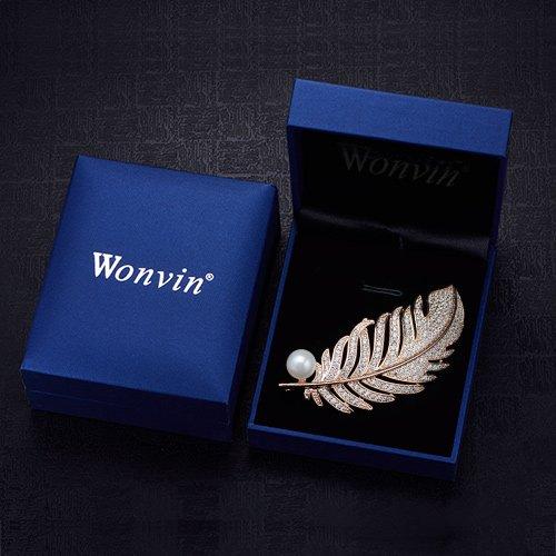 Wonvin mujer Ángel alas Bufanda suéter abrigo Broches y alfileres hebilla con cristal
