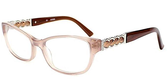d9a44c7c099825 Guess - Monture de lunettes - Femme Beige beige Medium  Amazon.fr ...