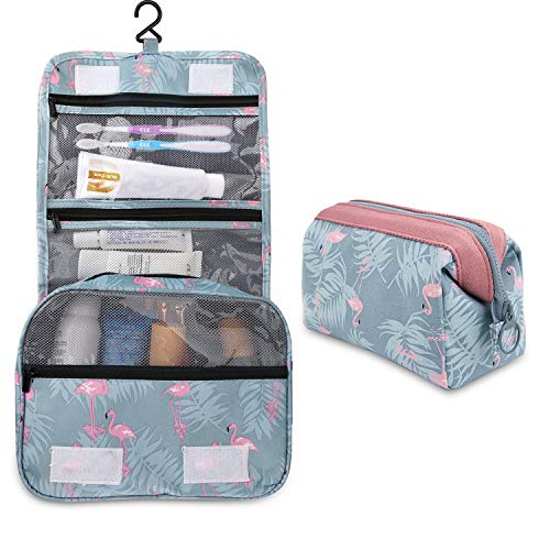 fd3bf5c5ca71 2 Pieces Toiletry Bag Multifunction Hanging Cosmetic Bag Portable Organizer  Makeup Bags Pouch Large Capacity Waterproof Travel Bag for Women Girls Men