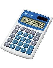 Rexel Ibico 082x kalkulator kieszonkowy Dual Power wyświetlacz LCD (biały/niebieski)