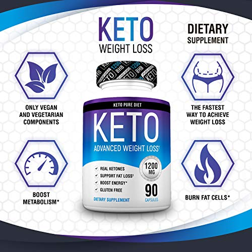 Keto Pure Diet Pills - Ketogenic Diet Supplement - Boost Energy and Metabolism - Keto Slim Supplement for Men and Women - 90 Capsules by Keto Pure Diet (Image #4)