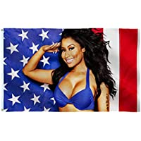 Nic-ki Min-aj American Flag 3x5 Outdoor Indoor-Nicki Min-aj Flag USA for Wall-Double Stitched- Polyester with Brass…