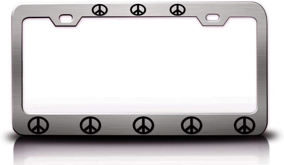 2 Holes Screws Humor Car Tag Cover Aluminum Metal License Plate Frame Decorative License Plate Frame