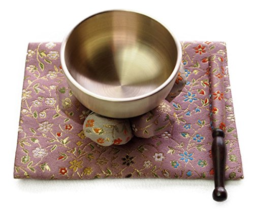 Zen of 4-Piece Sets, Rin For Meditation And Yoga, Rin Aet To Feel Free.Tone Quality.Singing Bowl. (Rin-3.2, kaoru,kobana,pink)