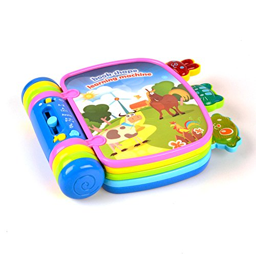 ok Toy Flip Flap Book with Light and Sound for 18 Months Toddlers Chritsmas Gift By Hanmun (Lite Flap)