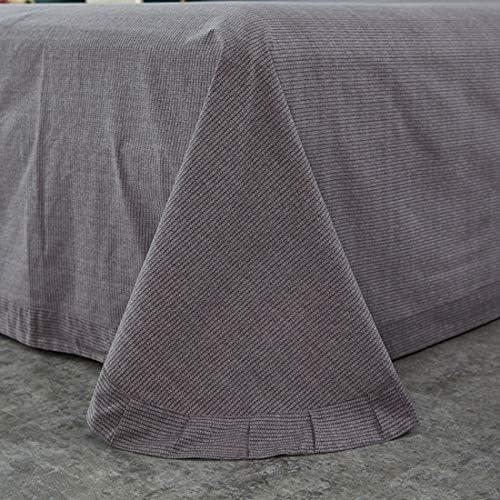 グリーンヴィンテージカバーセットエココットン1キルトカバー+ベッドシーツ2つの枕カバー+フェザーファブリック/キルト軽量ソフト低刺激性を含めて、4点セットシルクComforteを形