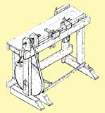 1805 Turning Bench, Treadle Lathe