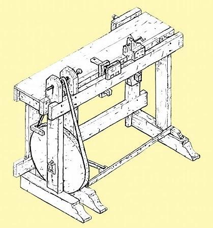 1805 Turning Bench, Treadle Lathe