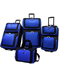 U.S Traveler New Yorker Lightweight Expandable Rolling...