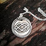 Fine Silver Wax Seal Necklace - Outlander Inspired - Exclusive - FREE SHIPPING IN U.S.