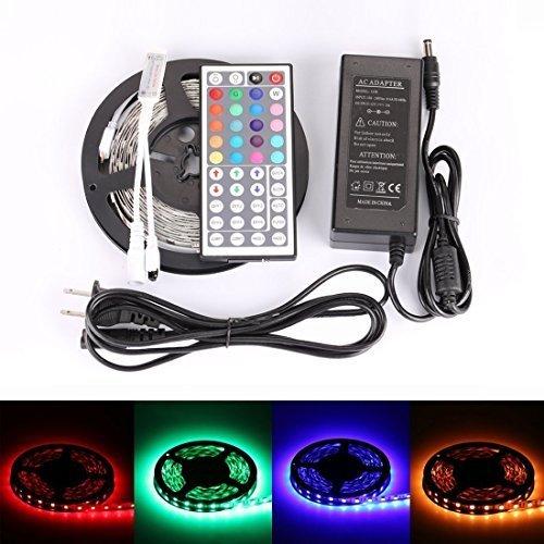 LEDMO 5M SMD 5050 RGB LED Strip Kit, 300leds DC12V