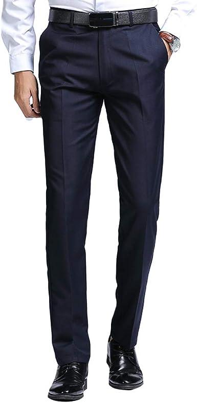 Haorun Pantalones De Vestir Para Hombre Ajustados Formales De Pierna Recta Pantalones De Danza Amazon Es Ropa Y Accesorios