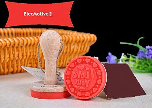 ElecMotive Keksausstecher Keksstempel Set Plätzchen Stempel Holzgriff und Lebensmittelechtes Silikon (Liebe)