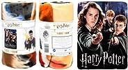Wizarding World Harry Potter Fleece Throw Blanket - Harry Potter School Gang Hermione & Ron Kids Fleece Th
