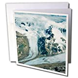 "Unnamed glaciers deep within katmai NP, Alaska, USA greeting card is a great way to say ""thank you"" or to acknowledge any occasion. These blank cards are made of heavy-duty card stock that allows for smudge free writing. Cards are creased for..."