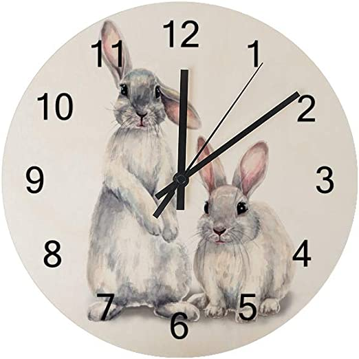 Squirrel Watercolor Wall Clock Kids Nursery Room,Teens Room Wall Clock
