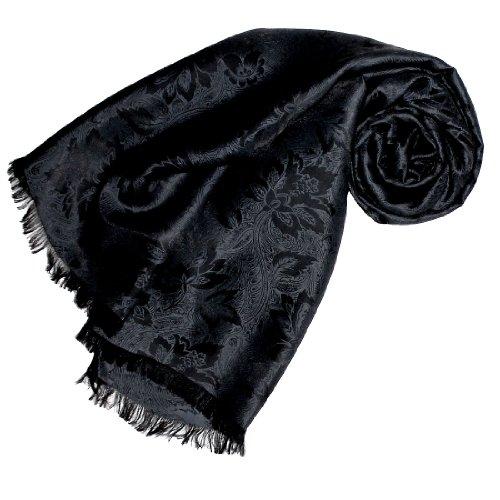 LORENZO CANA Italian Luxury Silk Scarf Shawl Damask 22x75