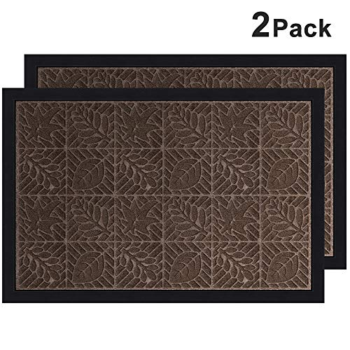 Amagabeli 2 Pack Large Outdoor Door Mats Rubber Shoes Scraper 36