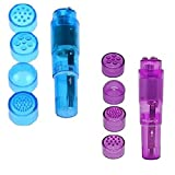 Finever Portable Mini Beauty Facial Massagers Travel Massager Tool for Facial,Head,Eyes Blue Purple