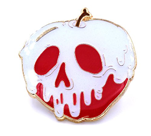 """Poison Apple G.I.D. (Glow in The Dark) Lapel Pin by Yesterdays Co. 1.25"""""""