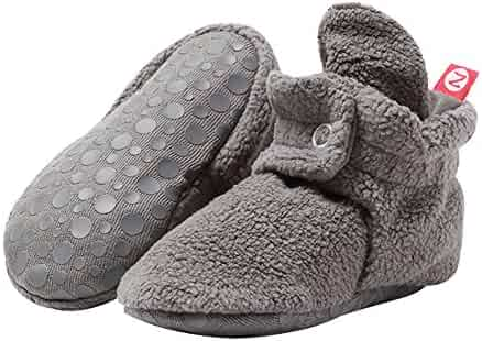 Zutano Boys' Cozie Fleece Baby Booties with Grippers