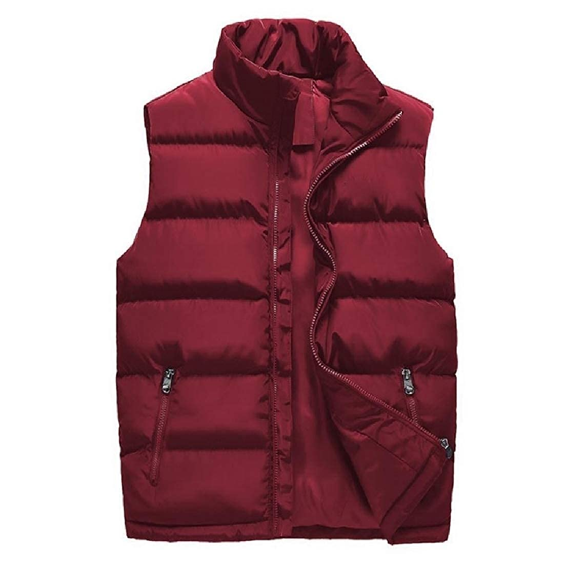 Maisicolis Mens Plus Size Packable Light Weight Simple Vest Coats Jacket