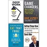 Game Changers, Eat That Frog, Getting Things Done, Deep Work 4 Books Collection Set