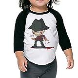 Aweson Nightmare On Elm Street Freddy Krueger Pizza ToddlerSleeve Shoulder T-shirt 4 Toddler