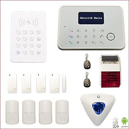 Seguridad Mania G6 - Alarma de hogar inalámbrico transmisión ...
