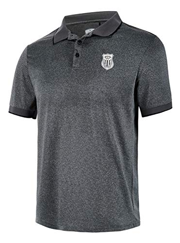 - GEEK LIGHTING Men's Polo Shirt Quick-Dry High Moisture Wicking Short Sleeve Sports Golf Tennis T-Shirt (Darkgrey,M)