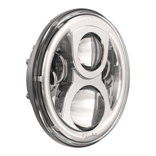 JW Speaker 8700 Evolution 2 - 7'' Round LED Headlight - Chrome