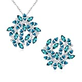 Btime Beautiful Fashion For Wedding Jewelry Set (aquamarine)