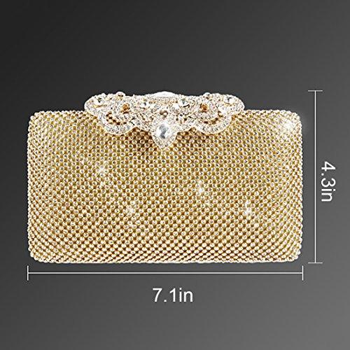 YYW Glitter Clutch Bag - Cartera de mano para mujer negro