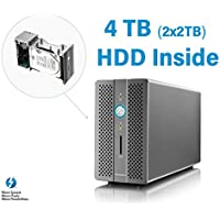 Thunder3 Raid Station 4TB HDD ( 2 x 2TB HDD) - Certified for Windows and MacOS