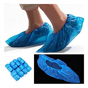 [Free Shipping] 100Pcs Disposable Plastic Thick Outdoor Rainy Day Carpet Cleaning Shoe Cover // 100x plástico desechable de limpieza de alfombras gruesa cubierta de la zapata