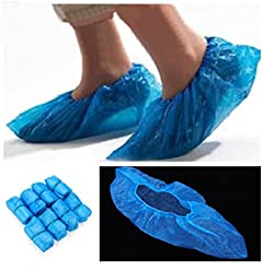 [Free Shipping] 100Pcs Disposable Plastic Thick Outdoor Rainy Day Carpet Cleaning Shoe Cover /