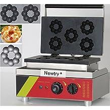 Newtry NP-3 5pcs Commercial Blossom Waffle Maker Electric Flower Donut Machine (220V)