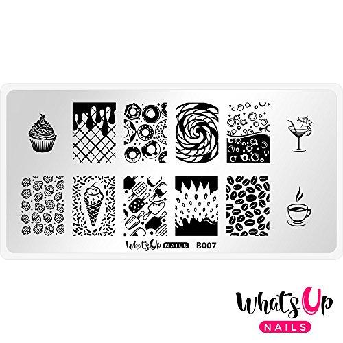 Whats Up Nails - B007 Sugar High Stamping Plate for Nail Art Design