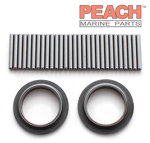 Peach Marine Parts PM-0395627 Bearing & Retainer Kit (Wrist Pin); Replaces Johnson Evinrude OMC: 0395627, 395627, Sierra: 18-1374, GLM: 16220, Mallory: 9-51103, Wiseco: W5217 Made by Peach ()