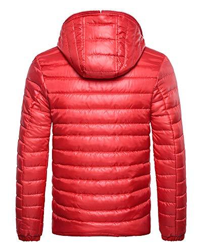 Packable Leggero Incappucciato Ultra Giù Puffer Inverno Zixing Rosso Degli Uomini Cappotto Peso 8vRqWTU