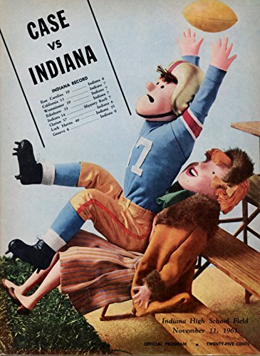 November 11, 1961 - Case Western Spartans vs Indiana State Sycamores College Football (1961 Ncaa Football)